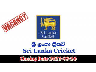 Assistant Manager, Supervisor - Sri Lanka Cricket